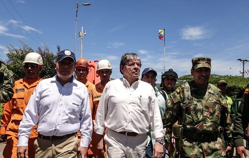 Canciller colombiano Carlos Holmes en frontera colombovenezolana